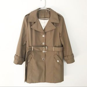 CALVIN KLEIN TAN TRENCH JACKET WITH BELT SIZE PXL